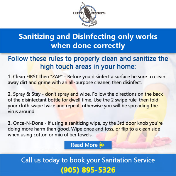 Dust Busters Sanitizing And Disinfecting Popup